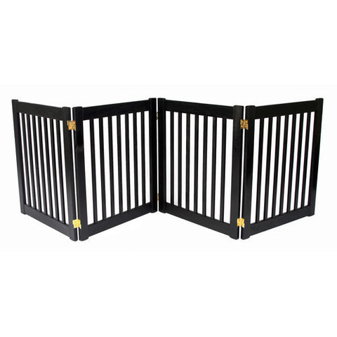 Sale Freestanding Wide Wood Amish Pet Gate