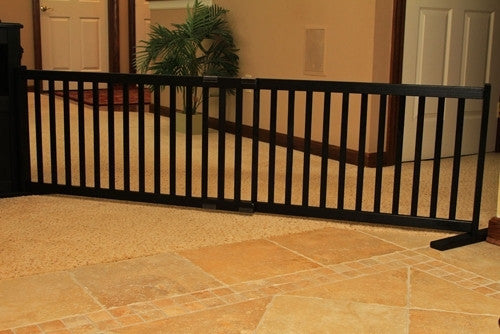 Black Step Over Pet Gate - Dynamic Accents