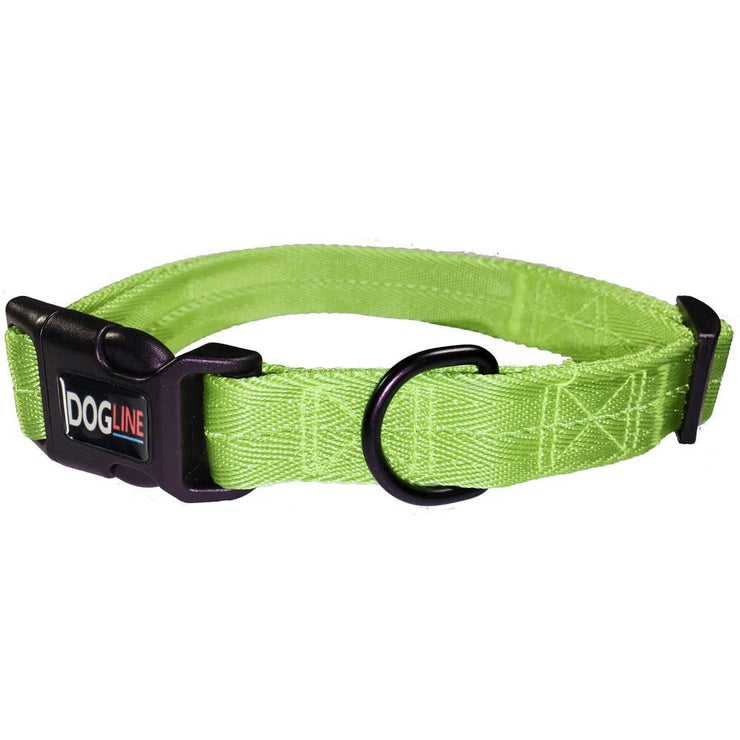 Lime Green embroidered dog collar