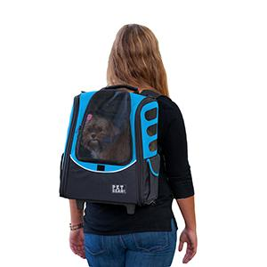 Pet Gear Wheeled Back Pack Pet Carrier