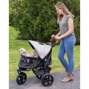 all terrain pet stroller with top open