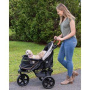 gray small dog stroller for walks or jogging