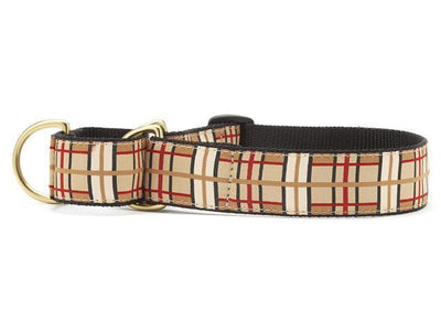 Plaid extra wide martingale collar
