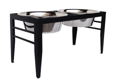 Petstop RDB19 Double Bowl Elevated Feeder