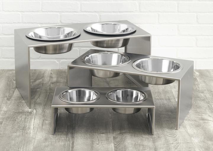 Stainless Steel Luxury Dog Feeder w 2 bowls