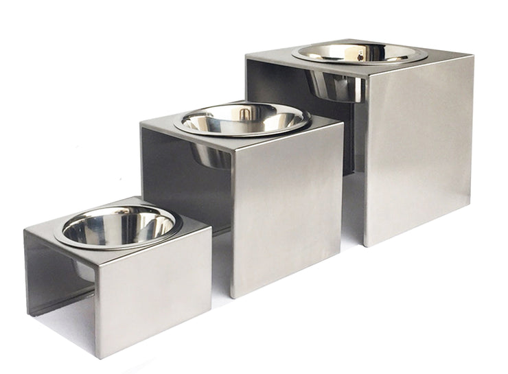 Slate Raised Platform Designer Dog Diners