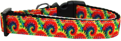 Nylon dog collar - Tie Dye