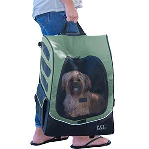 Large Back Pack Rolling Pet Carrier