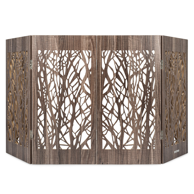 barnwood branches decorative pet barrier indoor