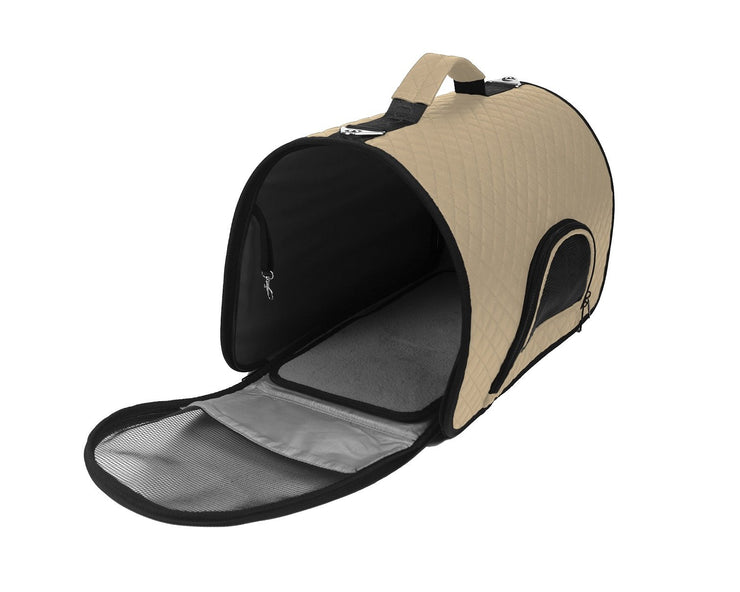 Beige comfort ready dog carrier