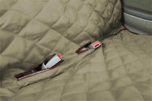 hammock seat cover -brown quilted with seat belt holes