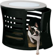 Zen Haus Endtable -dog crate -black