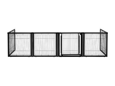 freestanding pet gate -black