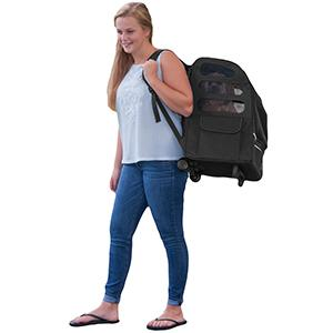 backpack dog carrier-Large Pet Gear -Black