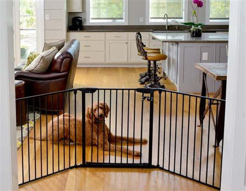 100 Inch Indoor Pet Gate   Black