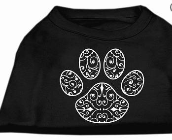 graphic print dog shirt -black