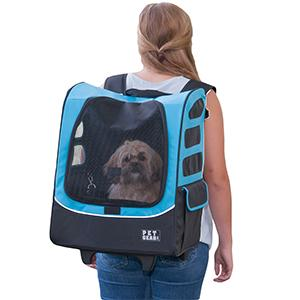 Blue backpack dog carrier-Large Pet Gear
