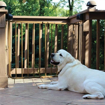 Brown Outdoor Dog Gate