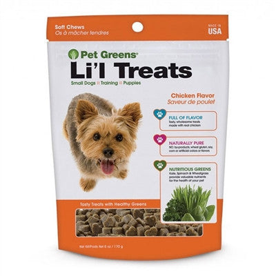 Soft Roasted Chicken Flavor Green Dog Treats