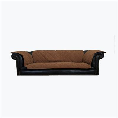 Chocolate dog sofa protector cover