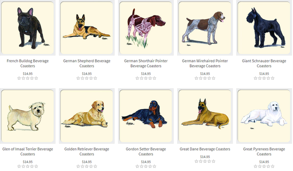dog drink coasters examples 2