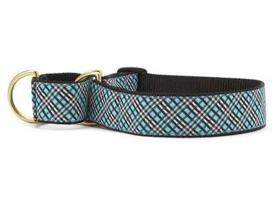 Aqua Plaid Martingale Collar