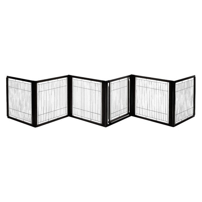 Convertible Elite 6 panel indoor gate- Black
