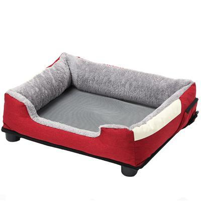 red heating cooling pet bed