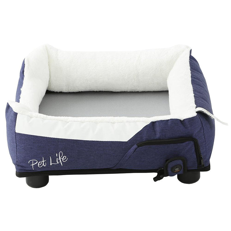cooling hated blue dog bed