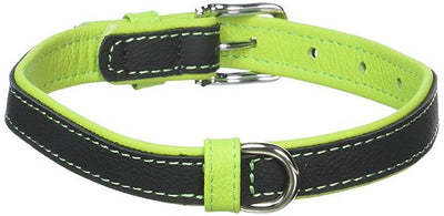 Dual Color leather Collar green