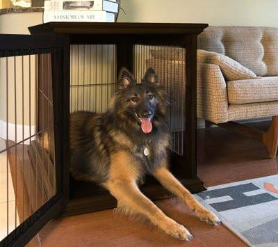 Ruff Haus Unique Wooden Dog Crate Side Table Furniture