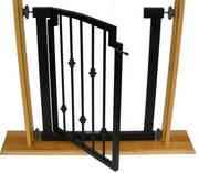 Emperor Rings Designer Pet Gate -Black