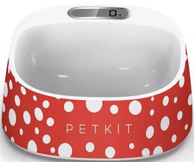 Smart dog bowl with scale -Red