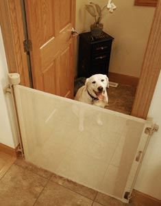 retractable fabric dog gate