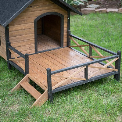 Dog Home with Sun Deck