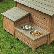 dog house storage feeder combo