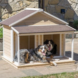 Cream color 2 dog doghouse