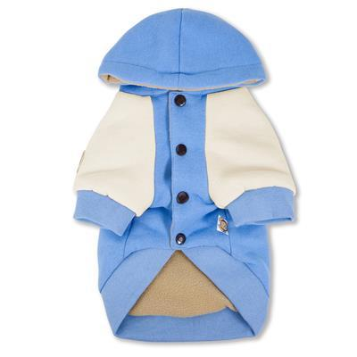 blue cotton hoodie for pets