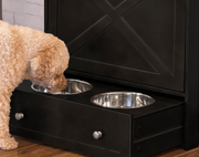 dog bowls in drawer
