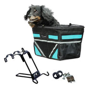 silver accent pet bicycle basket