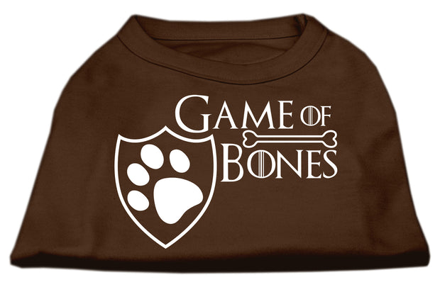 Game of Bones graphic dog tee -Brown