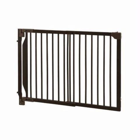 wall mount dark brown pet gate- Richell