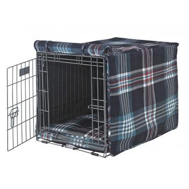 Quilted Crate Bed For Dogs - Tartan