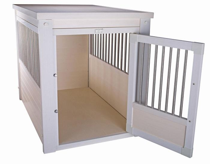 Dog Crate Furniture with metal slats