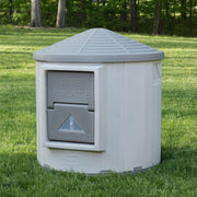 extra large insulated dog house -gray