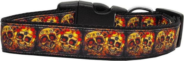 Happy Skulls -dog-collar
