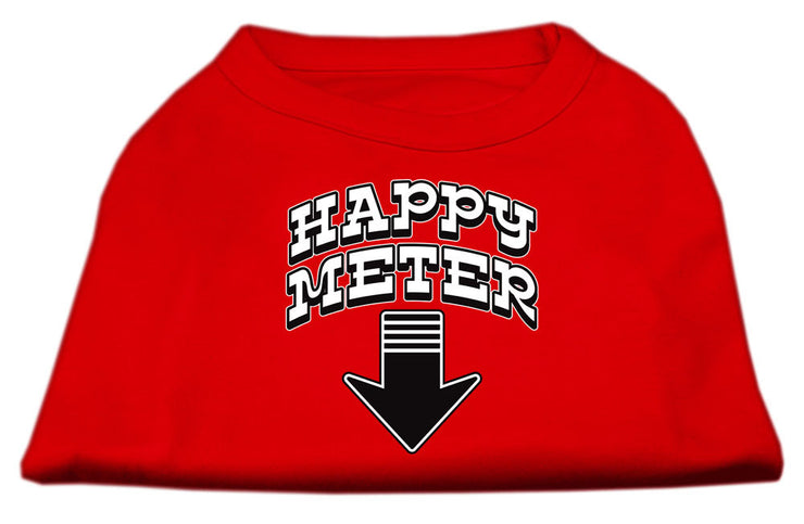happy meter dog shirt -red