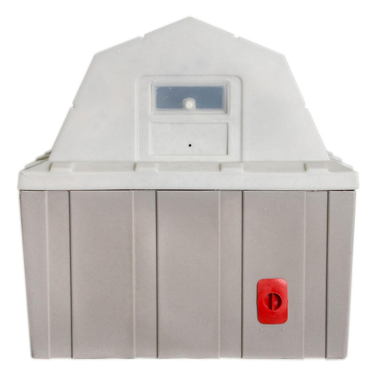 Insulated Dog House -Gray -rear view DP hunter