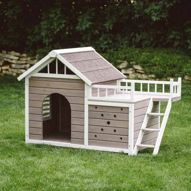 dog house with roof sun porch
