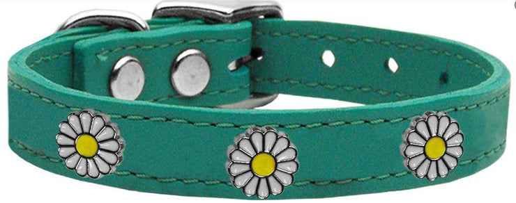 Leather Dog Collar W/ Daisy